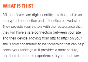 website not secure meaning