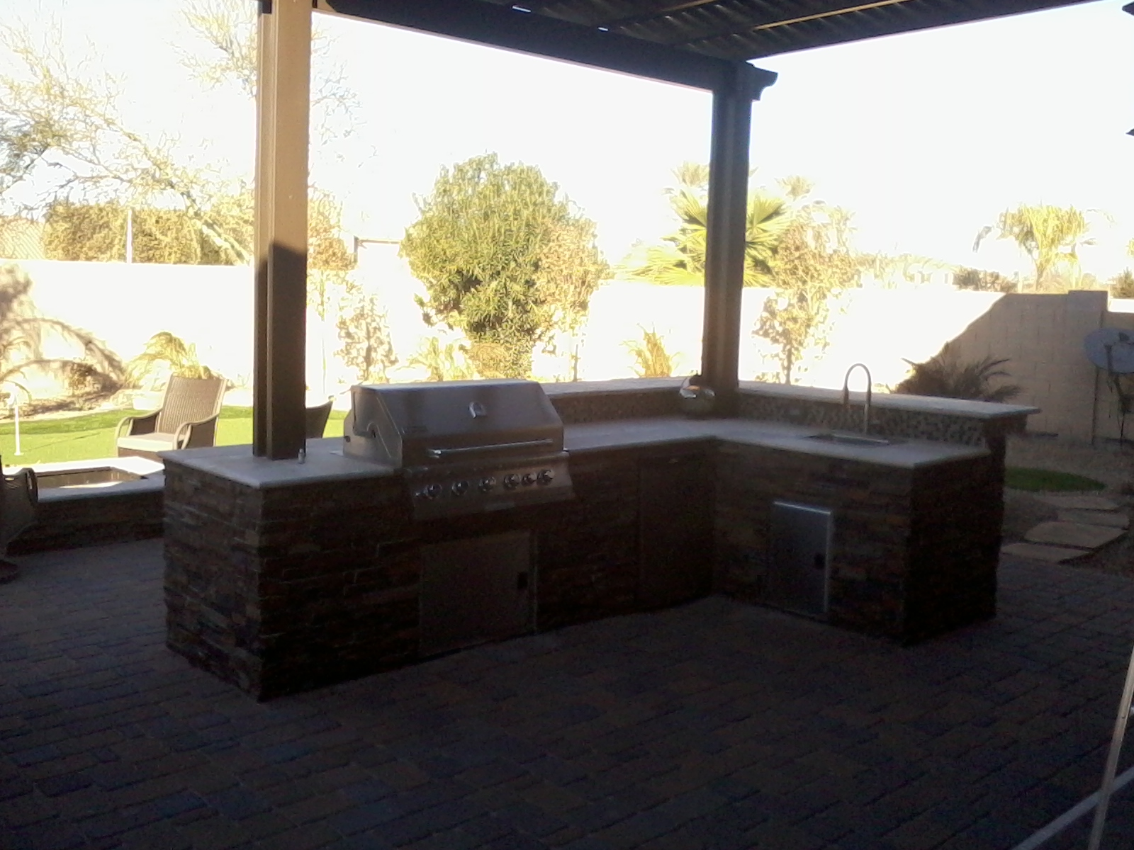Outdoor BBQ with Pergola Phoenix AZ
