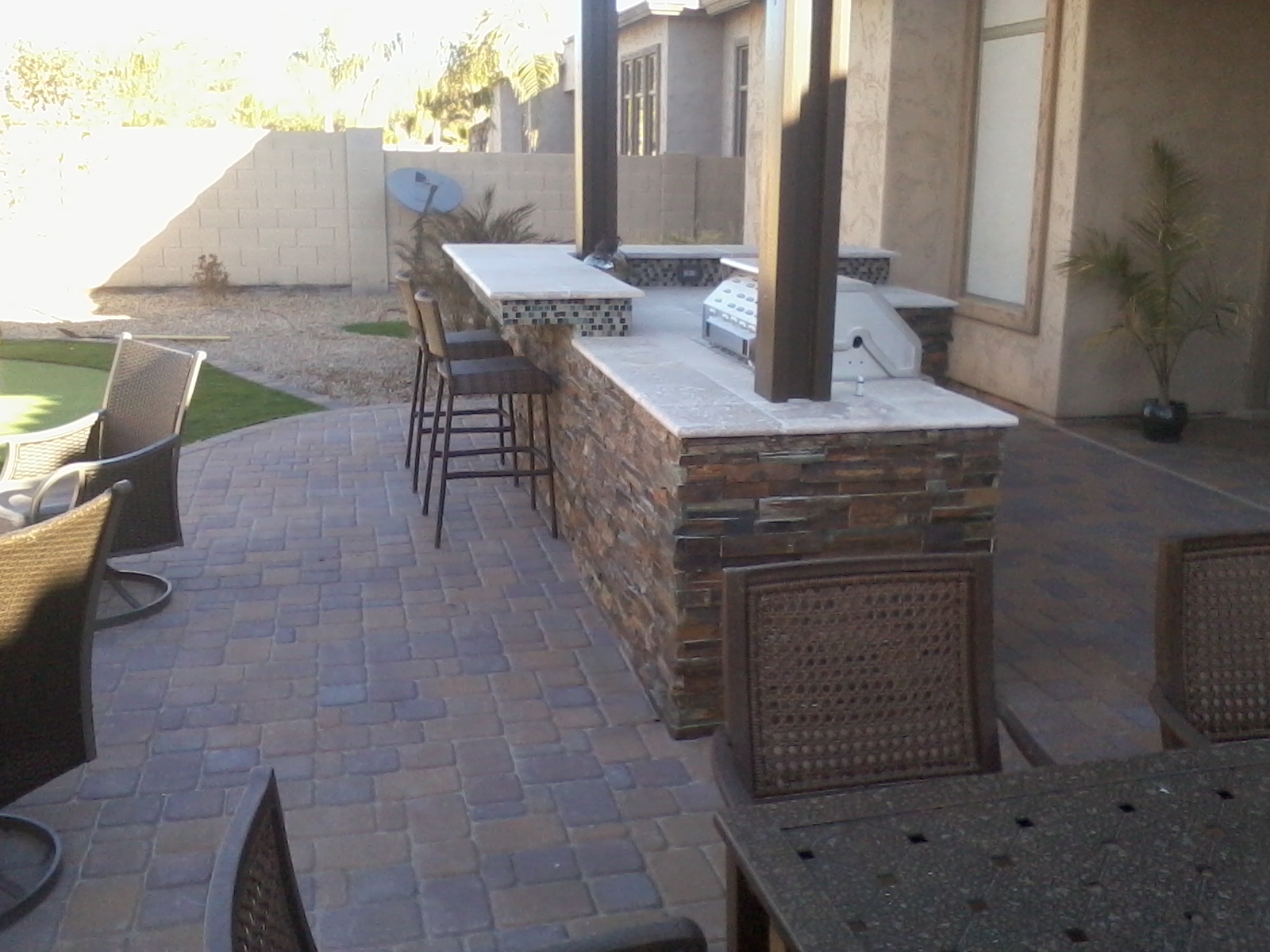 Outdoor BBQ with stone Avondale  AZ