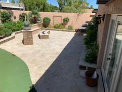 Travertine Outdoor Kitchen Scottsdale AZ