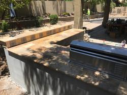 Outdoor Kitchen with raised bar Phoenix
