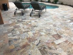Travertine Pool Deck Overlay Scottsdale