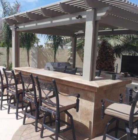 Pergola Shade Structure Bar Mesa AZ