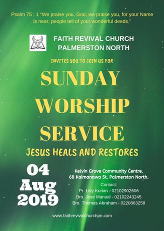 Sunday Service 04 08 2019