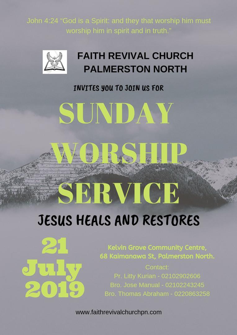 Sunday Service 21 July 2019