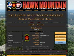 CAP Ranger Qualification Database Now Online!