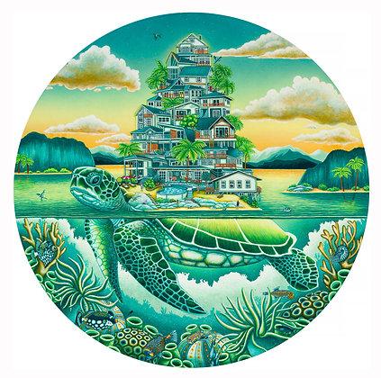 "Turtle Cove (11""x11"") Print"