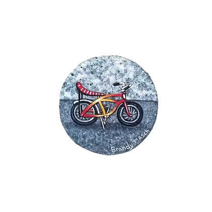 Banana Bike.  Original Miniature Painting.