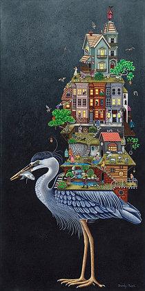"Blue Heron (11""x17"") Print"