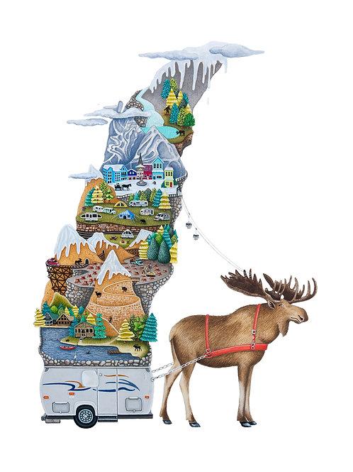 "Moose Mountain (8.5""X11"" Print)"