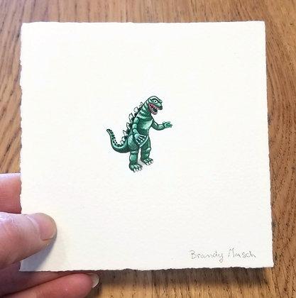Godzilla. Original Miniature Painting.