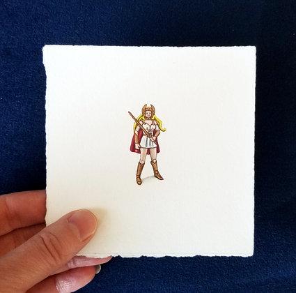 Princess of Power.  Original Miniature Painting.