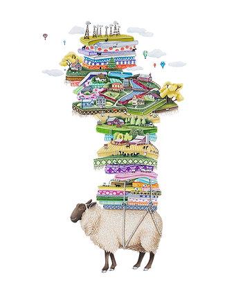 "Sheep Country (8.5""x11"") Print"