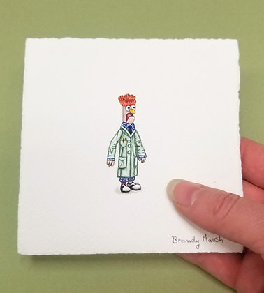 Beaker. (Meep Meep!) Original Miniature Painting.