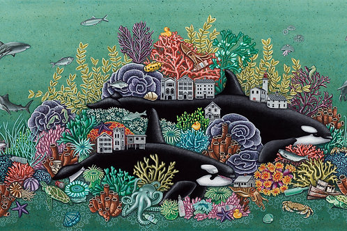"""Wolves of the Sea (10.5""""x21"""" Print)"""