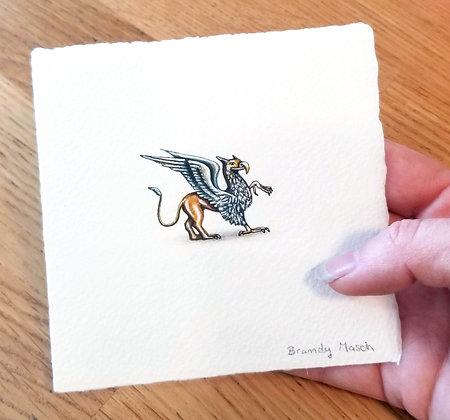 The Griffin. Original Miniature Painting.