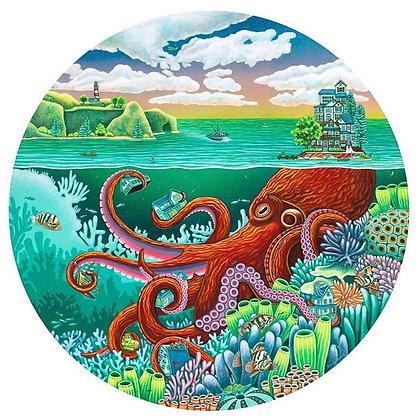 "Octopus Garden (11""x11) Print"