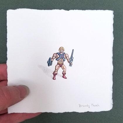 He-man.  Original Miniature Painting.