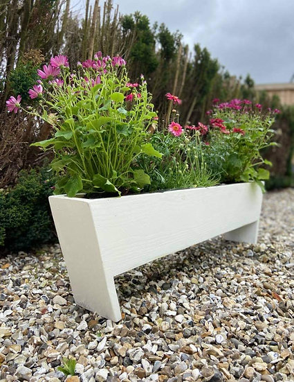 Sturdy painted wooden trough planter (different sizes available)