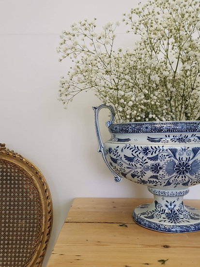 Vintage Delphi Blue posy bowl