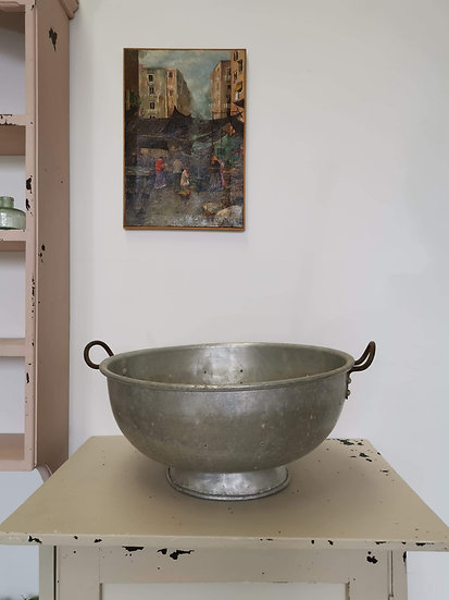 Large Stainless Steel Vintage Colander