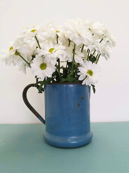 Antique French enamel jug