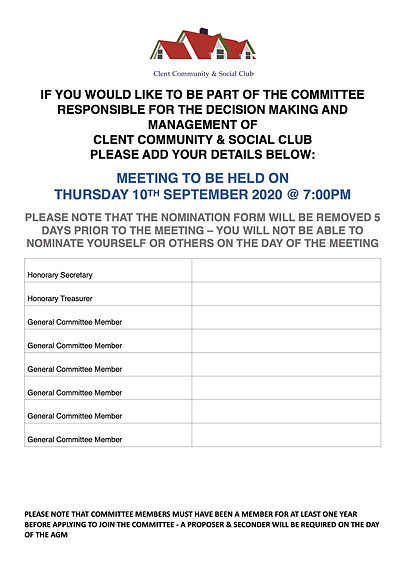 Notification of Committee Positiions AGM