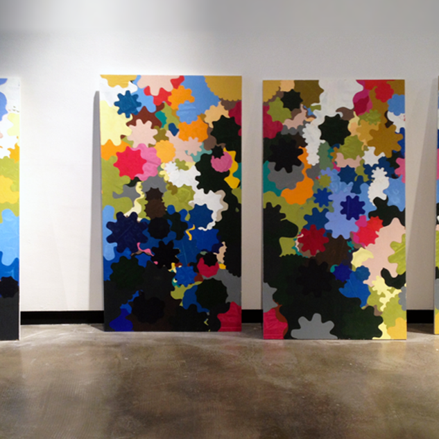 Untitled, Four Panel System Painting