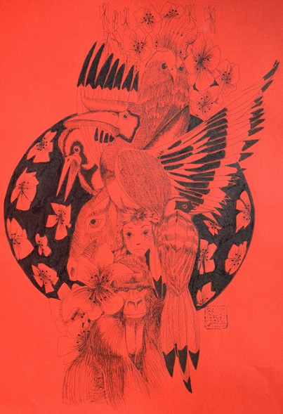 Éveilleur 2043 / Verseau - Encre et stylo noir sur papier 220g/m - 42 x 30 cm - 2013