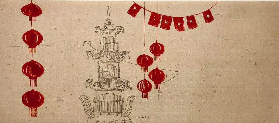 Iris Fossier - Paper lanterns, 2012