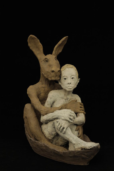 Ruta Jusionyte - Avec le lapin dans la barque