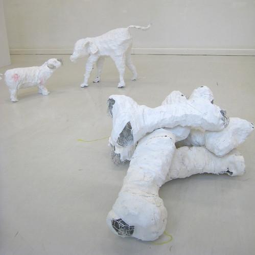 Alice Pieters- Installation chien et os