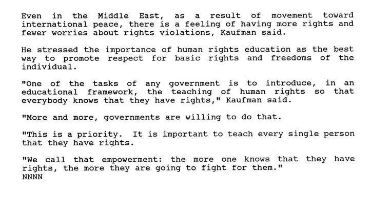 Human Rights Getting Better , but zig za