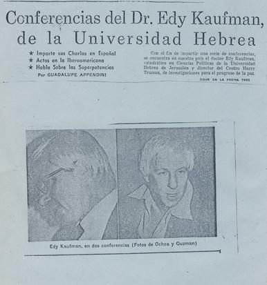 conferencias del dr. edy kaufman de la u