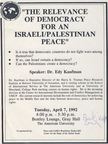 The relevance of democracy for an israel