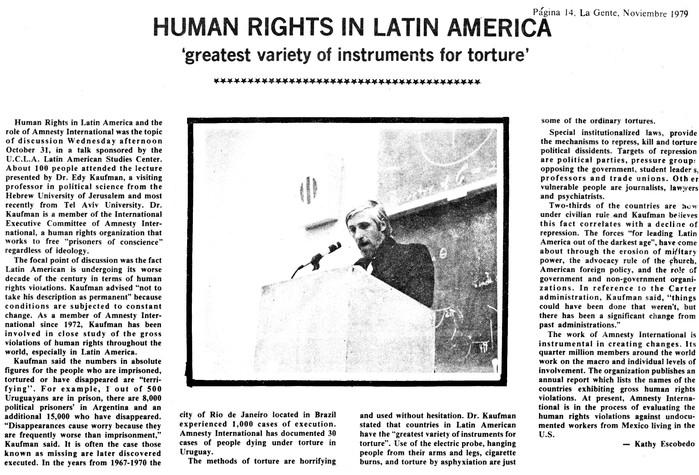 Human Rights in Latin America november 1