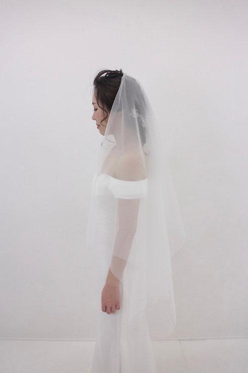 simple short veil