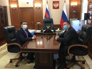 Александр Новьюхов принял участие во встрече с руководителем УМВД России в Югре Дамиром Сатретдиновы