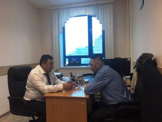 Александр Новьюхов провел рабочую встречу с членом правления Союза оленеводов мира Михаилом Яром
