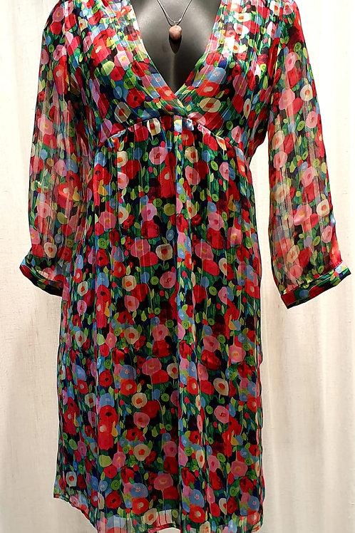 robe poppies lurex