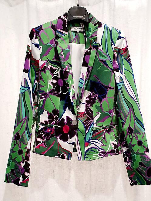 veste tailleur imprimée