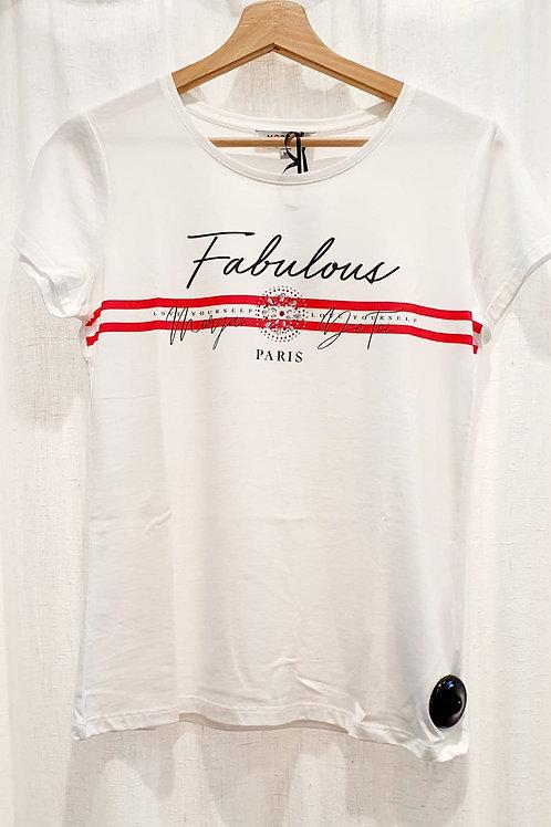 Tee shirt blanc Fabulous