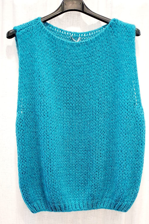 pull sans manche tricot