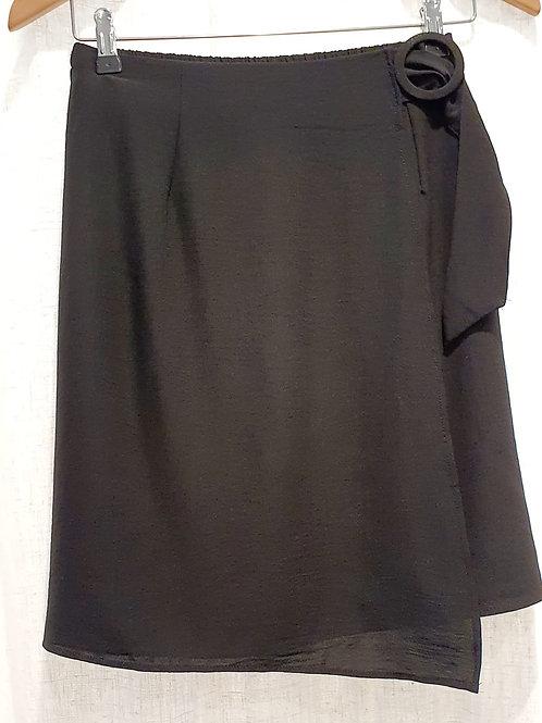 jupe noire, boucle taille