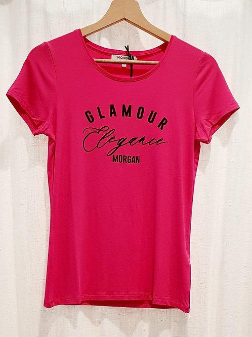 Tee shirt fuschia Glamour