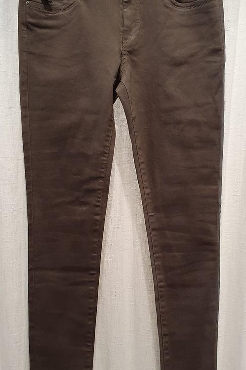 Pantalon enduit praline