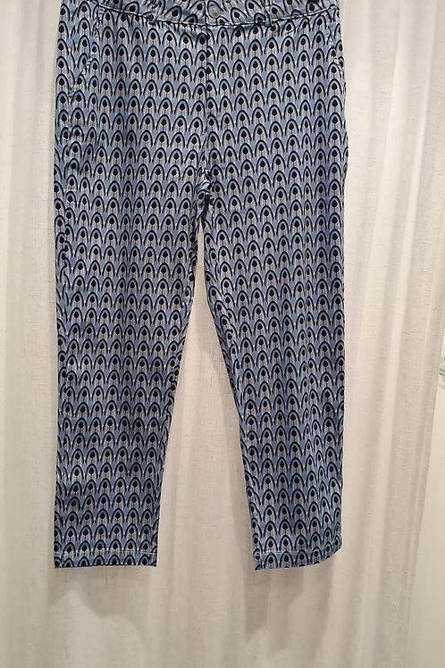 pantalon imprimé bleu