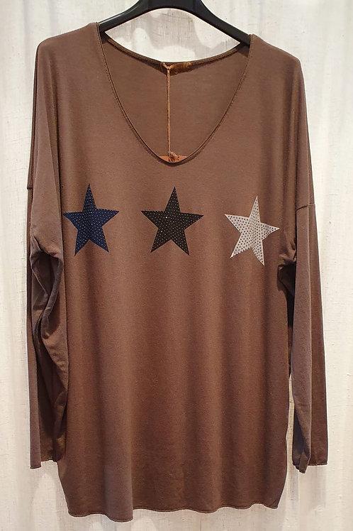 Tee-shirt oversize étoiles