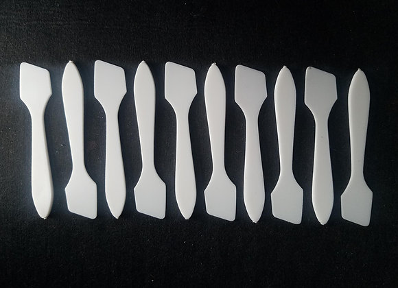 Mini Plastic Mixing Spatulas - 10, 50, or 100