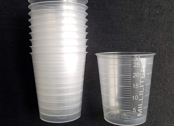 Empty Measuring Beakers-30 ml 1 ounce-10 or 50